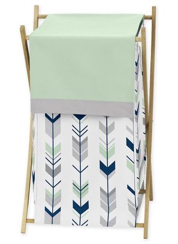 Baby/Kids Clothes Laundry Hamper for Grey, Navy Blue and Mint Woodland Arrow Bedding by Sweet Jojo Designs - Click to enlarge