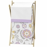 Baby/Kids Clothes Laundry Hamper for Lavender and White Suzanna Bedding by Sweet Jojo Designs