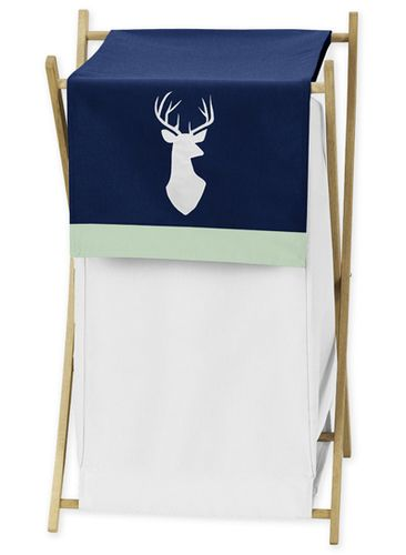 Baby/Kids Clothes Laundry Hamper for Navy, Mint and Grey Woodsy Bedding by Sweet Jojo Designs - Click to enlarge