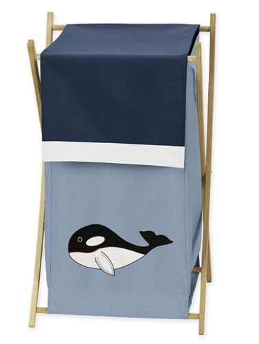 Baby/Kids Clothes Laundry Hamper for Ocean Blue Sea Life Bedding - Click to enlarge