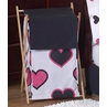 Baby/Kids Clothes Laundry Hamper for Pink and Black Hearts Bedding