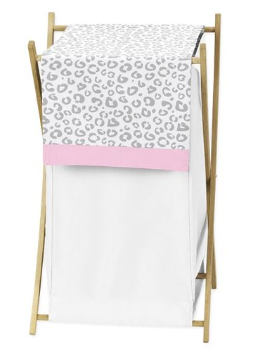 Baby/Kids Clothes Laundry Hamper for Pink and Gray Kenya Bedding by Sweet Jojo Designs - Click to enlarge