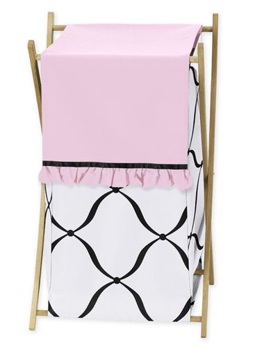 Baby/Kids Clothes Laundry Hamper for Pink, Black and White Princess Bedding - Click to enlarge