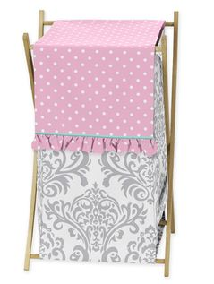 Baby/Kids Clothes Laundry Hamper for Pink, Gray and Turquoise Skylar Bedding