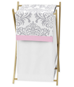 Baby/Kids Clothes Laundry Hamper for Pink, Gray and White Elizabeth Bedding by Sweet Jojo Designs