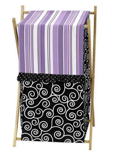 Baby/Kids Clothes Laundry Hamper for Purple and Black Kaylee Bedding by Sweet Jojo Designs - Click to enlarge