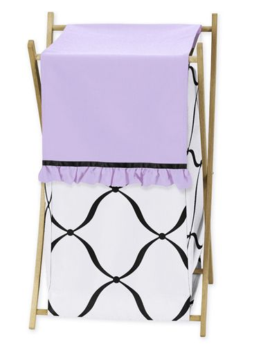Baby/Kids Clothes Laundry Hamper for Purple, Black and White Princess Bedding - Click to enlarge