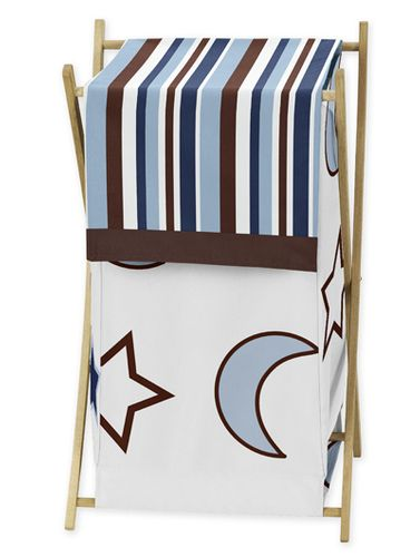 Baby/Kids Clothes Laundry Hamper for Starry Night Stars and Moons Bedding - Click to enlarge
