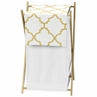 Baby/Kids Clothes Laundry Hamper for White and Gold Trellis Bedding by Sweet Jojo Designs