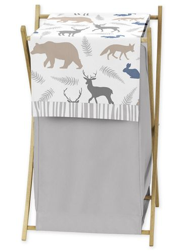Baby/Kids Clothes Laundry Hamper for Woodland Animals - Click to enlarge