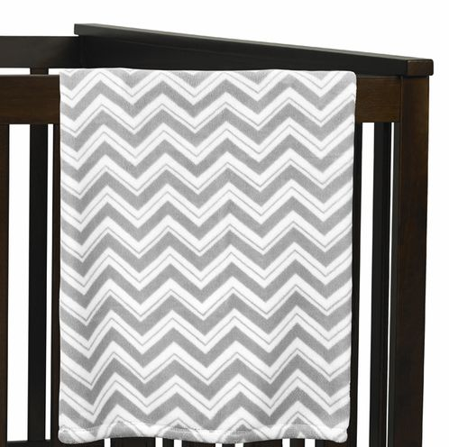 Baby Plush Blanket for Turquoise and Gray Zig Zag Collection by Sweet Jojo Designs - Click to enlarge