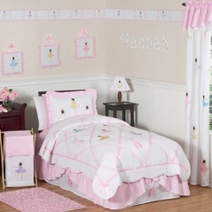 Ballet Dancer Ballerina Childrens Bedding - 3 pc Full / Queen Set