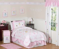 Ballet Dancer Ballerina Childrens Bedding - 4 pc Twin Set