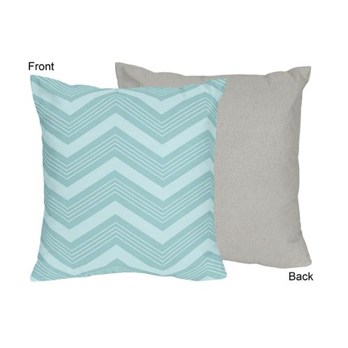 Balloon Buddies Chevron Decorative Accent Throw Pillow by Sweet Jojo Designs - Click to enlarge