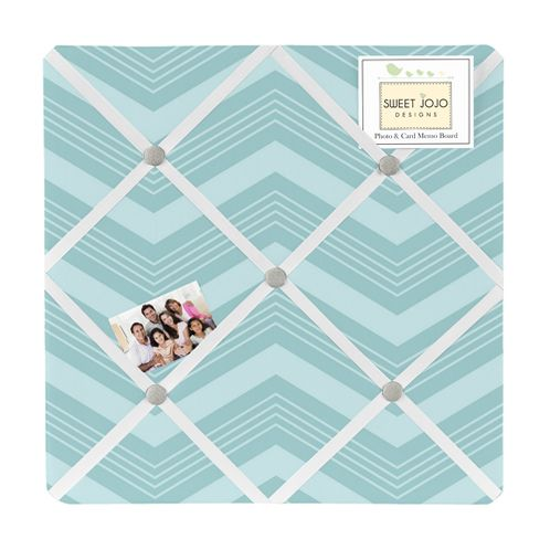 Balloon Buddies Chevron Fabric Memory/Memo Photo Bulletin Board - Click to enlarge