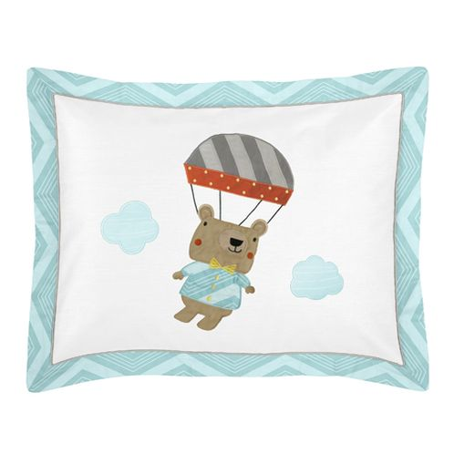 Balloon Buddies Pillow Sham by Sweet Jojo Designs - Click to enlarge