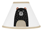 Bear Forest Animal Lamp Shade for Woodland Pals Collection by Sweet Jojo Designs - Neutral Beige, Black and White