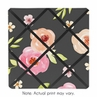 Black and Blush Pink Fabric Memory Memo Photo Bulletin Board for Watercolor Floral Collection by Sweet Jojo Designs - Rose Flower