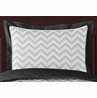 Black and Gray Chevron Zig Zag Pillow Sham by Sweet Jojo Designs