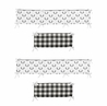 Black and White Buffalo Plaid Boy Baby Nursery Crib Bumper Pad by Sweet Jojo Designs - Woodland Rustic Country Farmhouse Check Deer Lumberjack