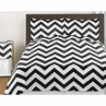 Black and White Chevron 3pc Bed in a Bag Zig Zag King Bedding Set Collection