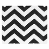 Black and White Chevron Zig Zag Accent Floor Rug by Sweet Jojo Designs