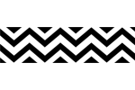 Black and White Chevron Zig Zag Kids and Baby Modern Wall Paper Border