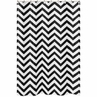 Black and White Chevron Zig Zag Kids Bathroom Fabric Bath Shower Curtain
