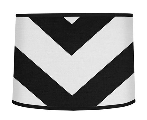 Black and White Chevron ZigZag Lamp Shade by Sweet Jojo Designs - Click to enlarge