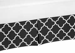 Black and White Crib Bed Skirt for Trellis�Baby Bedding Sets by Sweet Jojo Designs