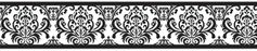 Black and White Damask Sloane Childrens and Kids Modern Wall Paper Border