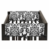 Black and White Isabella Baby Crib Side Rail Guard Covers by Sweet Jojo Designs - Set of 2