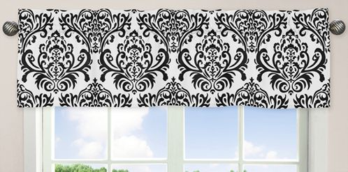 Black and White Isabella Girls Window Valance by Sweet Jojo Designs - Click to enlarge