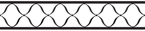 Black and White Princess Baby, Kids and Teens Wall Paper Border by Sweet Jojo Designs - Click to enlarge