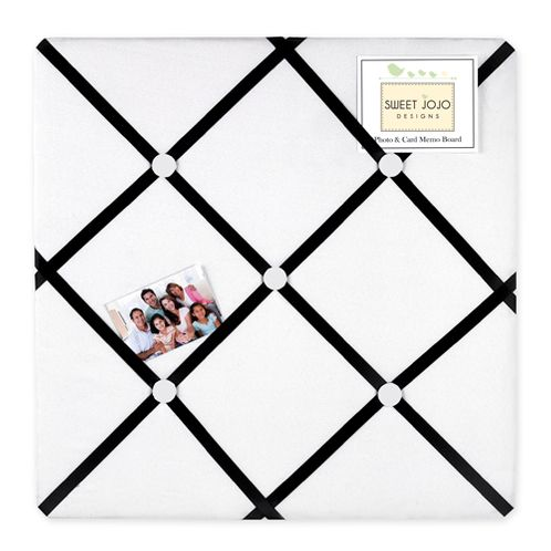 Black and White Princess Fabric Memory/Memo Photo Bulletin Board - Click to enlarge