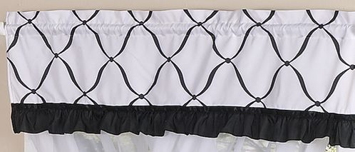Black and White Princess Girls Window Valance by Sweet Jojo Designs - Click to enlarge