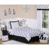 Black and White Princess Kids and Childrens Bedding - 4 pc Twin Set