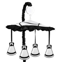 Black and White Princess Musical Baby Crib Mobile by Sweet Jojo Designs