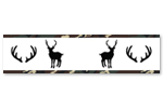 Green, Beige, Black and White Rustic Deer Wallpaper Wall Border for Woodland Camo Collection by Sweet Jojo Designs