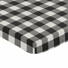 Black and White Rustic Woodland Flannel Baby Unisex Boy or Girl Fitted Mini Portable Crib Sheet for Buffalo Plaid Check Collection by Sweet Jojo Designs (Not for Standard Crib) - Country Lumberjack