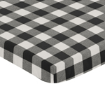 Black and White Rustic Woodland Flannel Baby Unisex Boy or Girl Fitted Mini Portable Crib Sheet for Buffalo Plaid Check Collection by Sweet Jojo Designs (For Mini Crib or Pack and Play ONLY) - Country Lumberjack