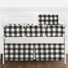 Black and White Rustic Woodland Flannel Buffalo Plaid Check Baby Unisex Boy or Girl Nursery Crib Bedding Set with Bumper by Sweet Jojo Designs - 9 pieces - Country Lumberjack