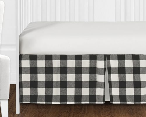 Black And White Rustic Woodland Flannel Buffalo Plaid Check Baby Unisex Boy Or Girl Nursery Crib Bedding Set Without Bumper By Sweet Jojo Designs 4 Pieces Country Lumberjack Only 139 99