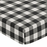 Black and White Rustic Woodland Flannel Unisex Boy or Girl Baby or Toddler Fitted Crib Sheet for Buffalo Plaid Check Collection by Sweet Jojo Designs - Country Lumberjack