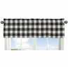 Black and White Rustic Woodland Flannel Window Treatment Valance for Buffalo Plaid Check Collection by Sweet Jojo Designs - Country Lumberjack