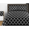 Black and White Trellis 4pc Childrens and Kids Twin Bedding Set by Sweet Jojo Designs