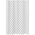 Black and White Triangle Tree Bathroom Fabric Bath Shower Curtain for Bear Mountain Watercolor Collection by Sweet Jojo Designs