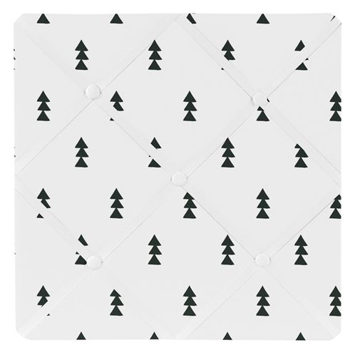 Black and White Triangle Tree Fabric Memory Memo Photo Bulletin Board for Bear Mountain Watercolor Collection by Sweet Jojo Designs - Click to enlarge