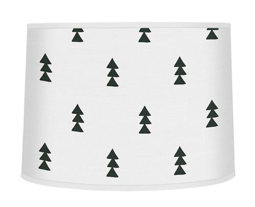 Black and White Triangle Tree Lamp Shade for Bear Mountain Watercolor Collection by Sweet Jojo Designs - Click to enlarge