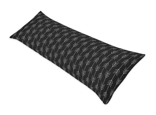 Black and White Woodland Arrow Body Pillow Case Cover by Sweet Jojo Designs (Pillow Not Included) - Rustic Country Farmhouse Lumberjack - Click to enlarge